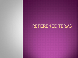 Reference Terms