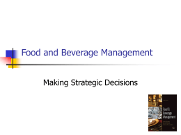 Food and Beverage Managment 3rd Edition 2011