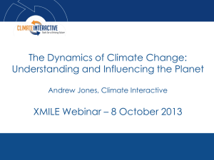 Dynamics of Climate Change slides