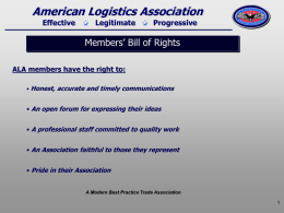 Members Bill of Rights - The American Logistics Association