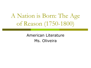 A Nation is Born: The Age of Reason (1750