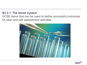 Ppt B3.2.1 The blood system