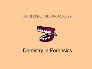 FORENSIC ODONTOLOGY - Red Hook Central School District