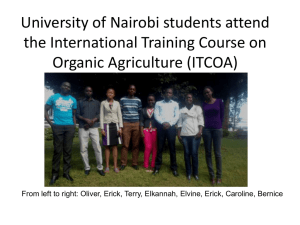 University of Nairobi students attend the International Training