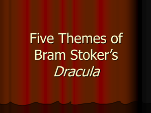 Themes and Motifs of Bram Stoker`s Dracula