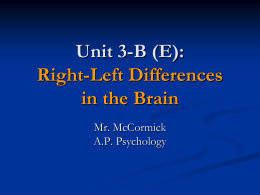 A.P. Psychology 3-B (E) - Right