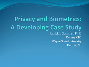 Privacy and Biometrics: A Short Case Study
