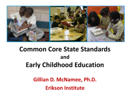 Common Core standards and Early Childhood