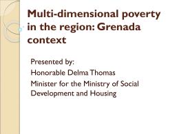 Multi-dimensional poverty in the region: Grenada context