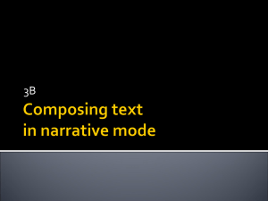 Composing text in narrative mode