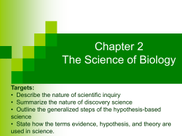 8 Discovery vs Hypothesis Based Science Notes