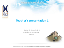 Teacher´s presentation 1