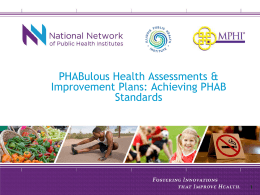 PHABulous Health Assessments & Improvement Plans