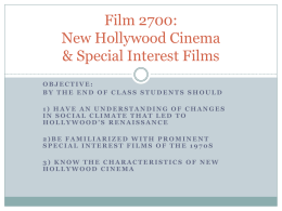 Film 2700: New Hollywood Cinema