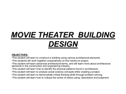 movie theater building design objectives
