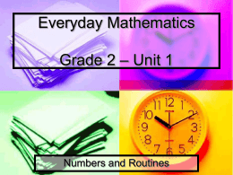 Math Messages Unit 1
