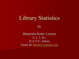 Library Statistics - Library and Information Science