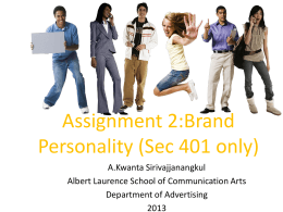 Assignment 2_Brand Personality
