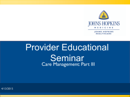 Presentation - Johns Hopkins Medicine