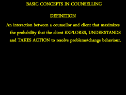 Basic Concepts in Counseling - Webs