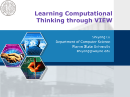 Learning Computational Thinking through VIEW