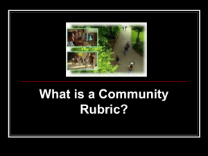 What is a Community Rubric?