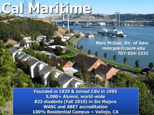 Maritime Academy - The California State University