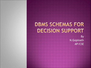 DBMS Schemas for Decision Support