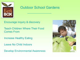 EarthBox Outdoor School Gardens 2012