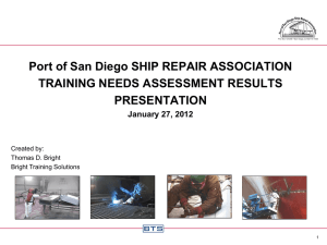 safety training results - San Diego Ship Repair Association