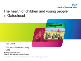 The health of children and young people