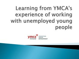 Learning from YMCA`s experience of working with unemployed