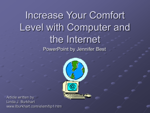 Increase Your Comfort Level with Computer and the Internet written