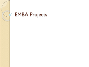 EMBA Projects