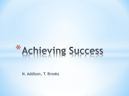 Achieving Success