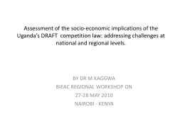 Assessment of the socio-economic implications of the Uganda`s