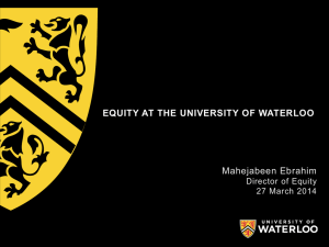 Equity - University of Waterloo