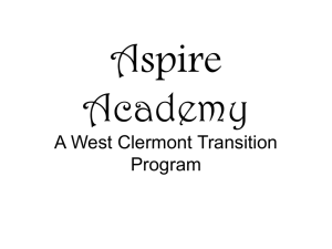 Aspire Academy - West Clermont Local School District