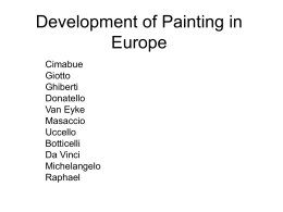 Development of Painting in Europe