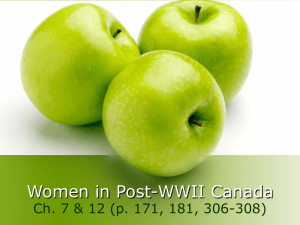 8 Women in Post-WWII Canada