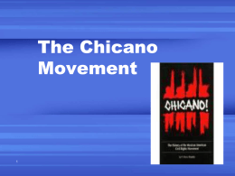 chicano movement powerpoint - Hickman Mills C