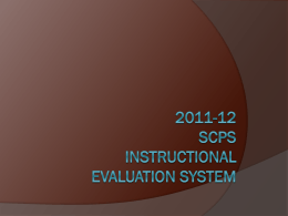 2011-12 SCPS Instructional Evaluation System