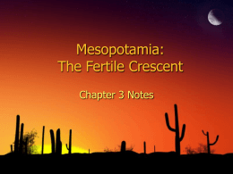 Mesopotamia: The Fertile Crescent