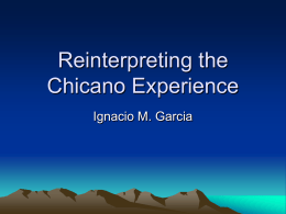 Reinterpreting the Chicano Experience