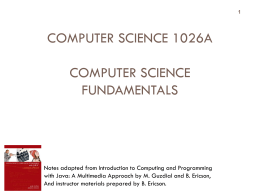 Intro - Computer Science