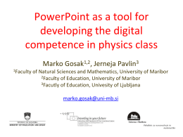 Primary and secondary school physics: utilization of the PowerPoint