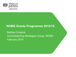 NOMS presentation - Provider workshop 280214 (3)