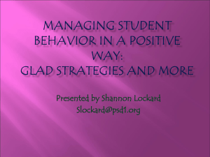 Classroom Management Tips: GLAD Strategies