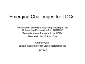 Emerging Challenges for LDCs - UN