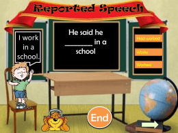 Reported Speech - British School